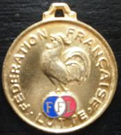 MEDAILLE  FEDERATION FRANCAISE DE LUTTE FFL COQ GAULOIS - Lutte (Wrestling)