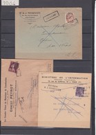 2 Env + 1 Bd T.P. Préo + Griffe Retour à L' Envoyeur - 1921-1960: Modern Period
