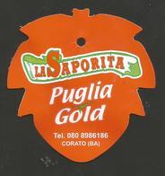 # UVA LA SAPORITA PUGLIA GOLD GRAPE Italy Fruit Tag Balise Etiqueta Anhänger Cartellino Uva Raisin Uvas Traube - Fruits & Vegetables