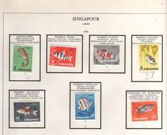 """7 Beaux Timbres, Stamps  Yvert  N° 53 à 59 """" Poissons """"   Neufs Avec Charnière - Singapour (1959-...)"""