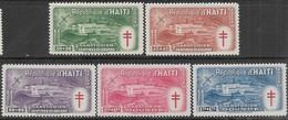 Haiti  1949  Sc#CB4-8  Red Cross  MNH  2020 Scott Value $55 - Haití
