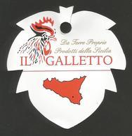 # UVA IL GALLETTO SICILIA GRAPE Italy Fruit Tag Balise Etiqueta Anhänger Cartellino Uva Raisin Uvas Traube - Fruits & Vegetables