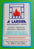 Calendrier De Poche Restaurante A Lareira . Lisboa,Portugal - Calendriers