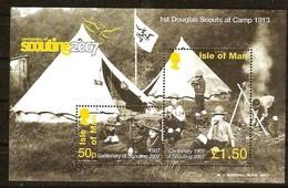 Ile De Man 2007 Yvertn° Bloc 65 *** MNH Scoutisme Padvinders - Man (Ile De)