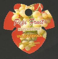 # UVA PEPI FRUIT SICILIA GRAPE Italy Fruit Tag Balise Etiqueta Anhänger Cartellino Uva Raisin Uvas Traube - Fruits & Vegetables