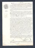 Acte Notarié 26 Février 1853 Avec Timbre Fiscal De 35 Centimes + Timbre à Sec 1 Page - Manuscritos