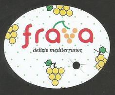 # UVA FRAVA PUGLIA GRAPE Italy Fruit Tag Balise Etiqueta Anhänger Cartellino Uva Raisin Uvas Traube - Fruits & Vegetables