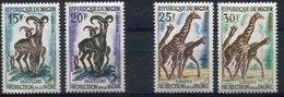 NIGER 1959 GIRAFES-MOUFLONS N° YVERT ET TELLIER 101-104 NEUF ** LUXE MNH - Giraffes