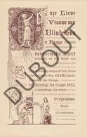 BRUGGE: Blindekensprocessie Programma 1913  (R675b) - Announcements