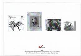 Belg. 2020 - Feuillet Noir & Blanc N° 1/5 ** -  (prévente 27/1/2020) - Belgique