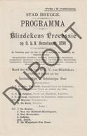 BRUGGE: Blindekensprocessie Programma 1898  (R675c) - Announcements