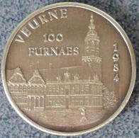 4057 Vz Veurne 100 Furnaes 1984 - Kz Beeltenis - Gemeentepenningen