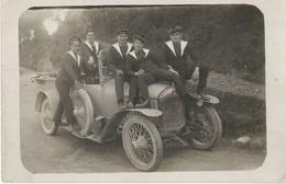 Cpa Carte Photo AUTOMOBILE Avec Marins (mention Automobile Sur Un Bachi) 1928 - Voitures De Tourisme