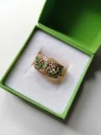 Anello Oro Con Smeraldi Seconda Mano - Bagues