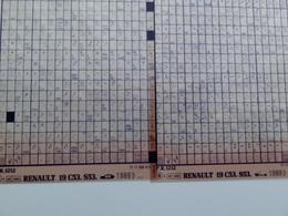Microfiche Renault 19 C53-s53  1989>  Pr1212 Lot De 2 - Visionneuses Stéréoscopiques