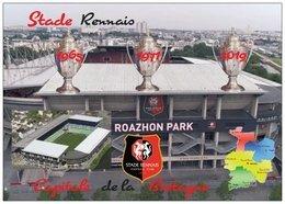 Football - Le Roazhon Park - Stade Rennais - Les 3 Coupes De France -  La Carte Du Département De L'ille Et Vilaine - - Football