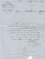 Oise - Gouvieux Près Chantilly - Joly Frères - Manufacture D'impressions Sur étoffes - Teintures De Laines 1875 - 1800 – 1899