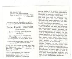 DP Zuster Cecile Frederickx Zuster Leonarda Zuster HH Berlaar Geb.Aarschot 1913 ,gestorven Leuven   1995 - Religion & Esotericism