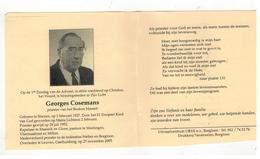 DP Georges Cosemans Priester Vh Bisdom Hasselt Geb.Sluizent 1927 ,gestorven Leuven  2005 - Religion & Esotericism