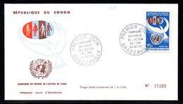 CONGO 215 Fdc ONU, Colombe De La Paix - VN