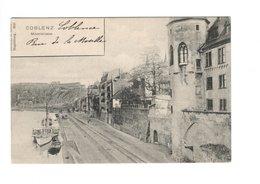 COBLENZ - Moselstrasse - Bateaux