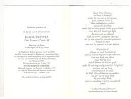 DP KAROL WOJTYLA Paus Joannes Paulus II,geboren Polen 1920 ,gestorven Rome 2005 - Religion & Esotericism