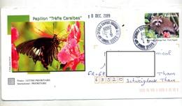 Pap Raton Cachet Basse Terre Reseau Grand Public Illustré Papillon - Prêts-à-poster:  Autres (1995-...)
