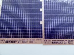 Microfiche Renault 21 B48D 8909> Pr1173 Lot De 2 - Stereoscoopen
