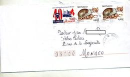 Lettre Cachet  Monte Carlo Sur Escargot Chambre Economique - Marcophilie - EMA (Empreintes Machines)
