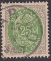Denemarken Yvert Et Tellier 27 T 14x13.5 Cote 50 Euro - Used Stamps