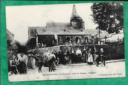 Reproduction Muirancourt (60) L'église 2scans Carte Animée âne - Autres Communes