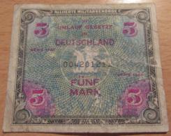 Allemagne / Occupation Alliée - 5 (Fünf) Mark Série 1944 - 5 Mark