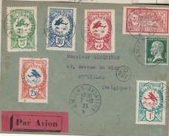 1923 ; 40 C Merson + 10 C Pasteur + 5 VIGNETTES ( Amiens/7 Oct23 De 0.25+0.50+0.75+1fr+2.5frs) (.) Sc AMIENS- AVIATION - Posta Aerea