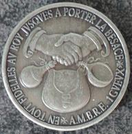 4058 Vz. A.M.B.R.E. 1 Gveux - Kz. William Tyndale Kerk Te Vilvoorde - Gemeentepenningen