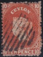 Ceylon     .    SG   .     70b       .   O      .      Cancelled      .   /   .   Gebruikt - Ceylon (...-1947)