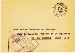 France, école Des Apprentis Mécaniciens  Poste Navale Bureau 75 En 1954 TB - Poststempel (Briefe)