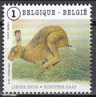 Belgium 2015 (MNH) (Mi 4551) European Brown Hare (Lepus Europaeus) 1 - Hasen