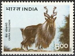 India 1996 (MNH) (Mi 1502I) - Markhor (Capra Falconeri) - Wild