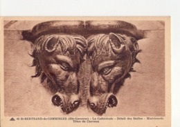 CPA - 31 - 9 - SAINT BERTRAND DE COMMINGES - LA CATHEDRALE - DETAIL DES STALLES MISERICORDE - TETES DE CHEVAUX - N° 40 - - Saint Bertrand De Comminges