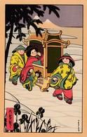 Illustratori - Illustrateur - Bertiglia  - SerieCinesi - Augiri - Bambina Su Portantina  - Bella - Autres Illustrateurs