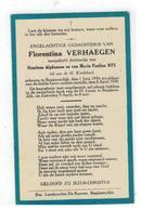 DP Florentina VERHAEGEN,geboren Begijnendijk 1934,dochtertje V Henricus Alph. En Maria P. NYS, Gestorven 1938 - Religion & Esotericism