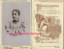 CDV Jeune Femme à La Mode Du Temps Vers 1890-photo Chesnay à Dijon - Fotos
