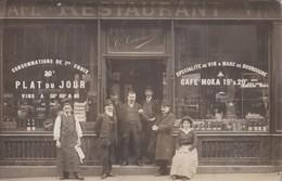 CARTE PHOTO PARIS 11e   CAFE RESTAURANT COURNEDE  29 RUE FONTAINE AU ROI  PRIX FIXE - Arrondissement: 11