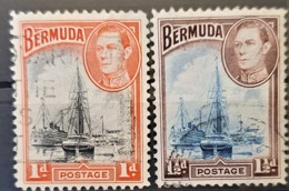 BERMUDA 1938 - Canceled - Sc# 118, 119 - 1d 1.5d - Bermudes