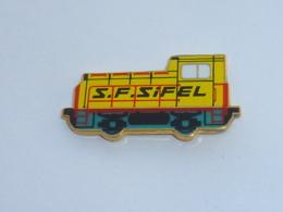 Pin's LOCOMOTIVE SF SIFEL - Construction Ferroviaire Mitry Mory - TGV