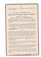 DP Lodewijk Antonia Jozef Peeters,geboren Begijnendijk 1947,Zoontje V Achiel En Yvonne Van Roosbroeck, Gestorven 1955 - Religion & Esotericism