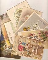 (C).Augurali Buon Natale.Lotto 8 Cartoline Viaggiate Anni 50'/60' (9-a20) - Non Classificati