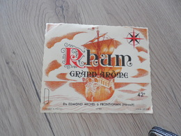 étiquette De Rhum Grand Arôme Edmond Michel Frontignan - Rhum