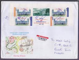 55th Birthday Of Sri Guru Nanak Dev Ji, Postal History Big Cover From PAKISTAN Registered Used 18.1.2020 From RAWALPINDI - Pakistan
