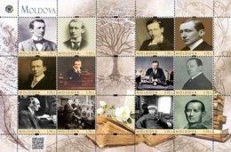 Moldova 2018, Radio Inventor G. Marconi, Sheetlet Of 12v - Ukraine